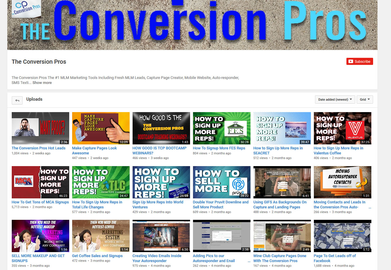 The Conversion Pros YouTube