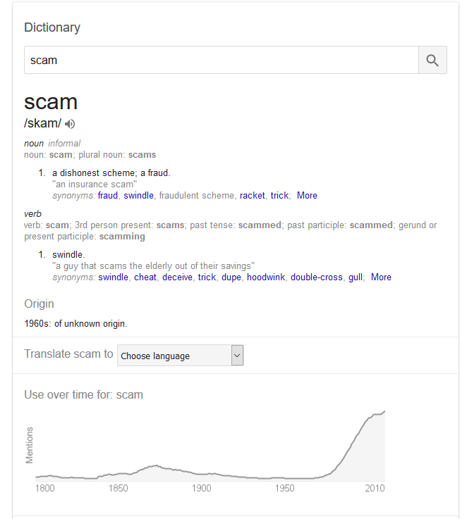 Scam and Dupe Mean the same thing